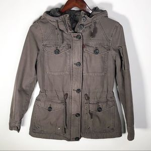 Levi's Women's Hooded Military Jacket Small